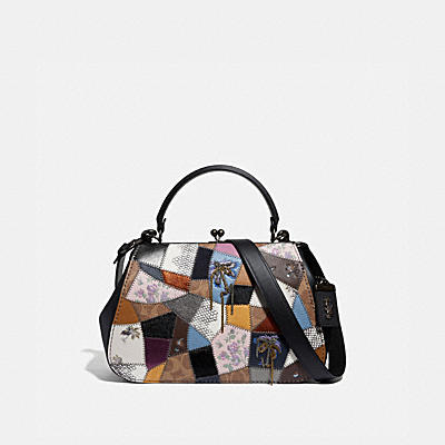 Ott Patchwork Leather Frame Bag