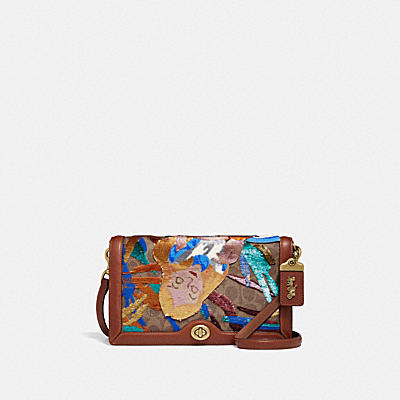 Riley Disney x Coach Alice經典Signature帆布印花手袋