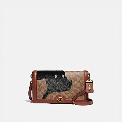 Riley Disney x Coach Peter Pan經典Signature帆布印花手袋