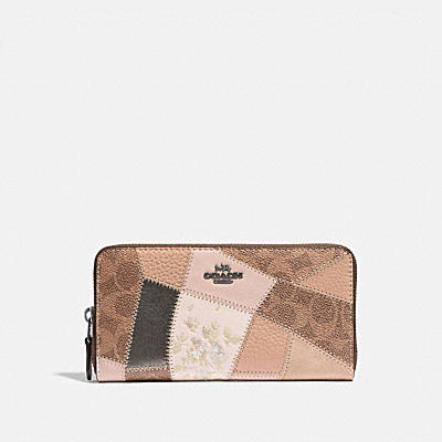 Patchwork Coated Canvas Signature Accordion Zip