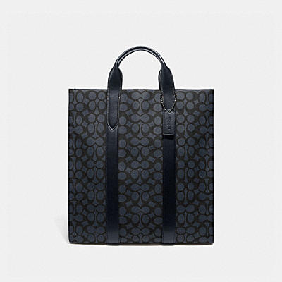 METROPOLITAN SOFT VERTICAL TOTE IN SIGNATURE CANVAS