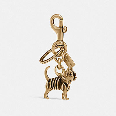 SKELETAL CAT BAG CHARM