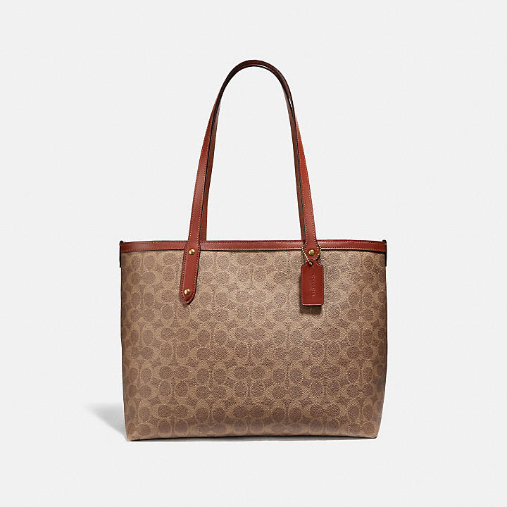 215f5e126d98 【公式】COACH - コーチ   セントラル トート ウィズ ジップ シグネチャー キャンバス   全てのレディースバッグ