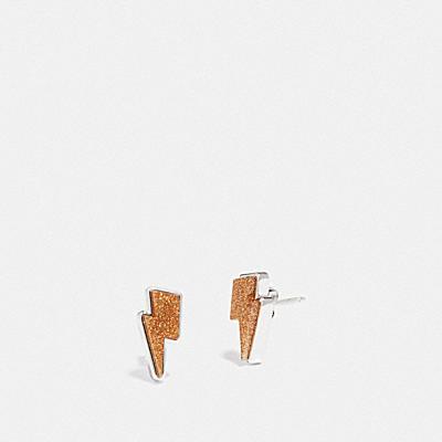 閃電飾釘耳環