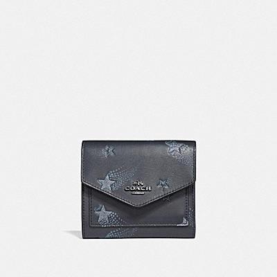 星星印花小型皮夾