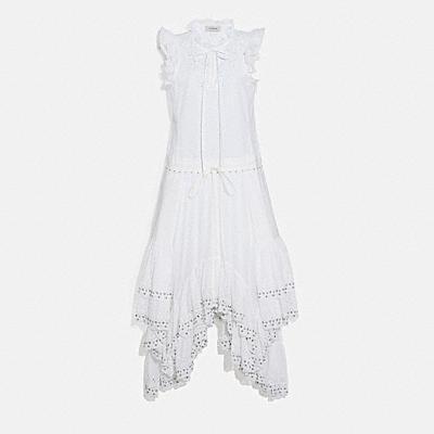 棉質印花連身裙