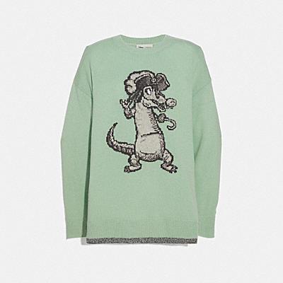 Disney x Coach 寬版鱷魚毛衣