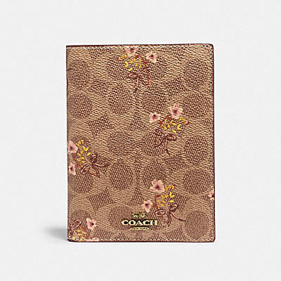 PASSPORT CASE IN SIGNATURE CANVAS WITH PRAIRIE PRINT