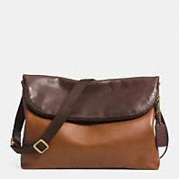 FOLDOVER CROSSBODY IN COLORBLOCK LEATHER
