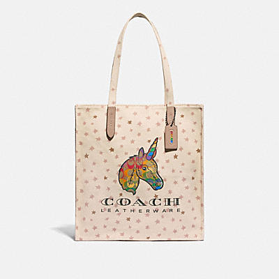 TOTE WITH RAINBOW SIGNATURE UNI