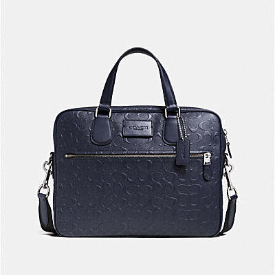 COACH HUDSON SLIM BRIEF IN SIGNATURE LEATHER