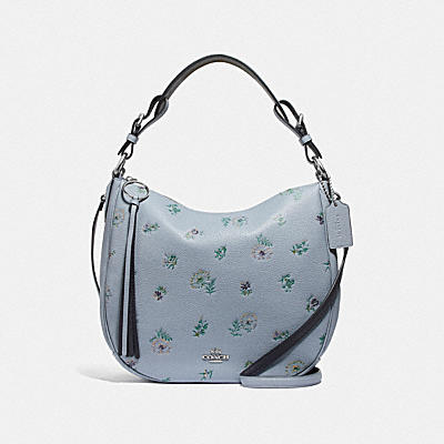 SUTTON HOBO WITH MEADOW PRAIRIE PRINT