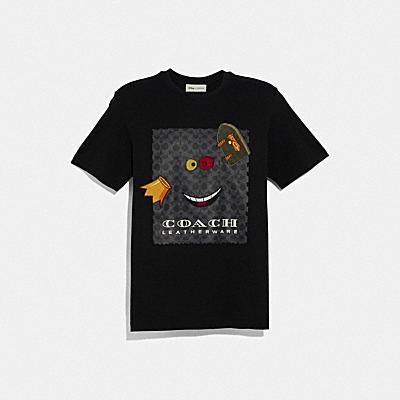 디즈니 X 코치 앨리스 프린트 티셔츠