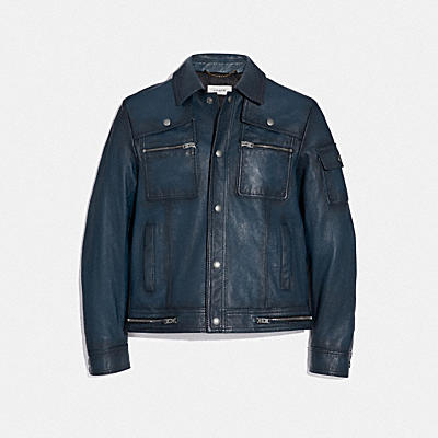 Snap Front Moto Jacket