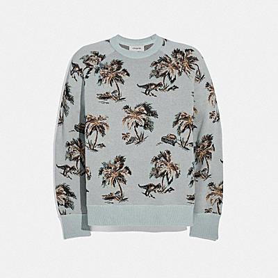 棕櫚樹提花運動衫