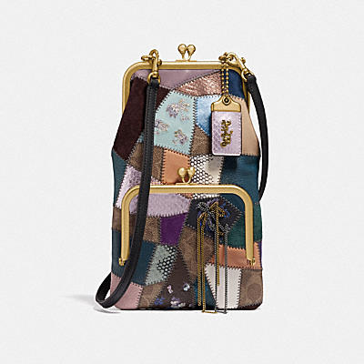 Ott Coated Canvas Signature Patchwork Double Frame Crossbody