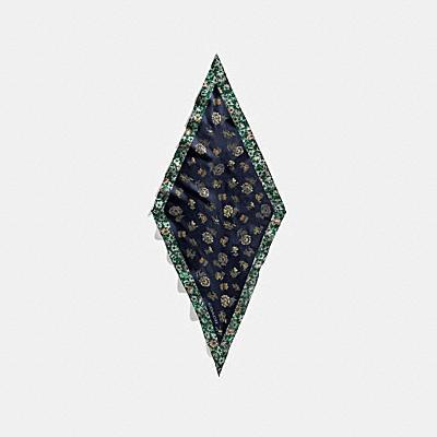 プレーリー フローラル プリント シルク ダイヤモンド