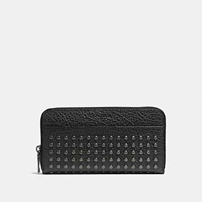 ACCORDION WALLET WITH STUDS