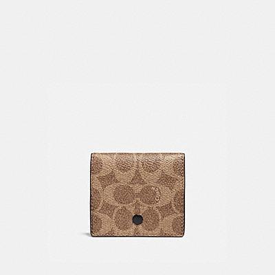 コーチ COACHの全ての財布&革小物 |オリガミ コイン ケース シグネチャー キャンバス