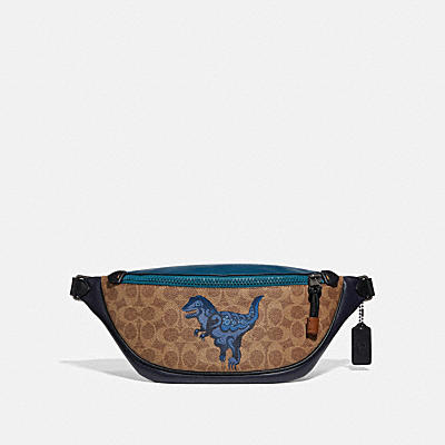 RIVINGTON BELT BAG IN SIGNATURE CANVAS WITH REXY BY ZHU JINGYI
