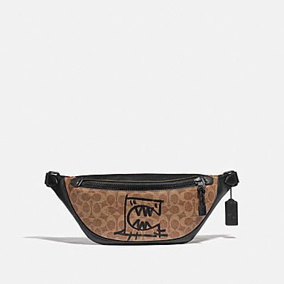 RIVINGTON BELT BAG IN SIGNATURE CANVAS WITH REXY BY GUANG YU