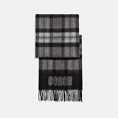 SIGNATURE BORDER PLAID PRINT MUFFLER