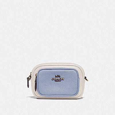 DOUBLE ZIP BELT BAG IN COLORBLOCK
