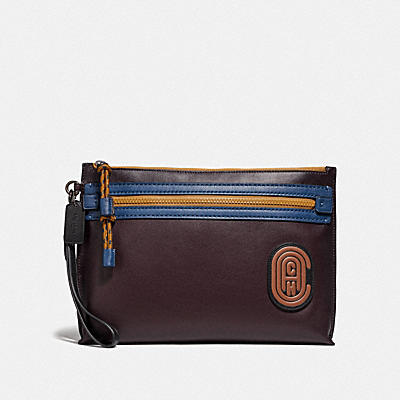 ACADEMY POUCH IN COLORBLOCK WITH COACH PATCH