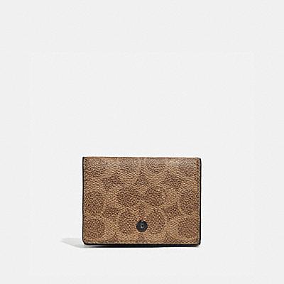 コーチ COACHの全ての財布&革小物 |トライフォールド オリガミ コイン ウォレット ウィズ シグネチャー キャンバス ブロッキング