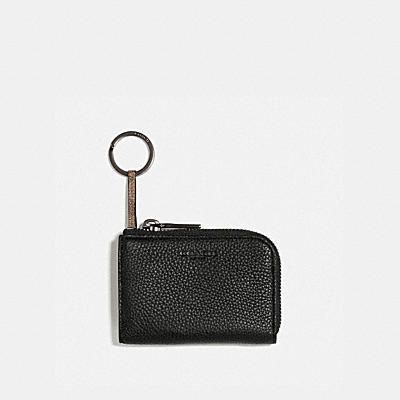 L-ZIP CAR KEY CASE WITH SIGNATURE CANVAS BLOCKING