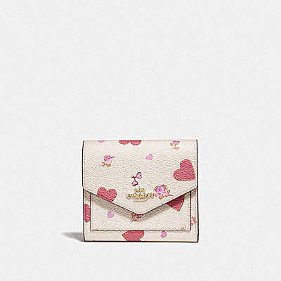 SMALL WALLET WITH PRAIRIE HEART PRINT