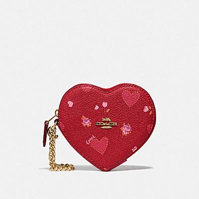 HEART COIN CASE WITH PRAIRIE HEART PRINT