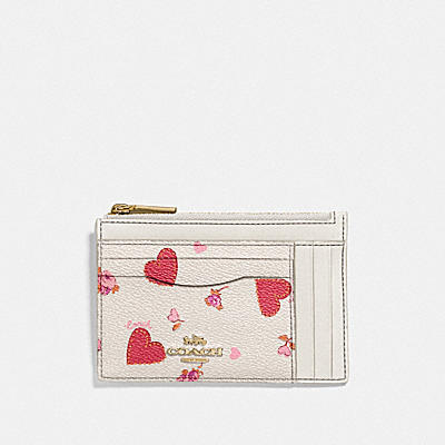 LARGE CARD CASE WITH PRAIRIE HEART PRINT