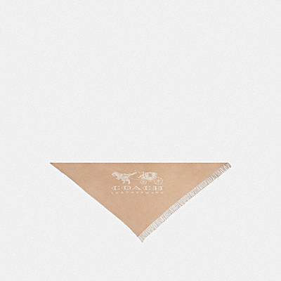 HORSE AND CARRIAGE PRINT OVERSIZED TRIANGLE SCARF