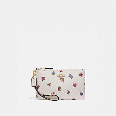 SMALL WRISTLET WITH VINTAGE ROSEBUD PRINT