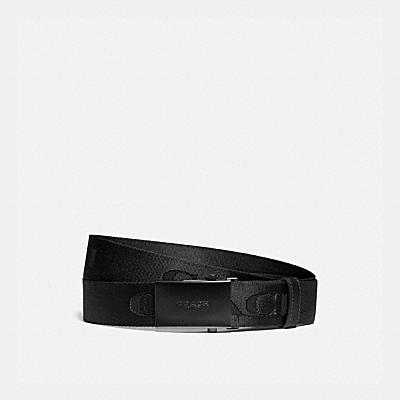 PLAQUE BELT WITH COACH PRINT, 35MM