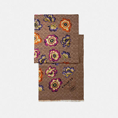 OBLONG SCARF WITH KAFFE FASSETT PRINT