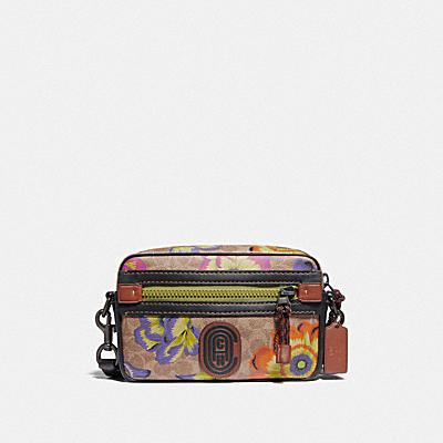 ACADEMY CROSSBODY IN SIGNATURE CANVAS WITH KAFFE FASSETT PRINT