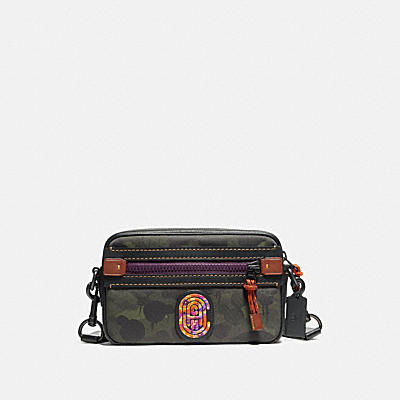 ACADEMY CROSSBODY WITH WILD BEAST PRINT AND KAFFE FASSETT COACH PATCH