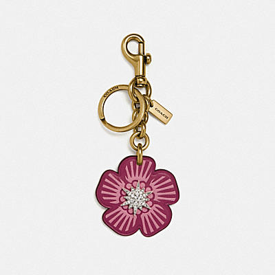 TEA ROSE STAR BAG CHARM