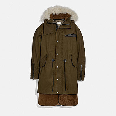 SHEARLING CONVERTIBLE PARKA