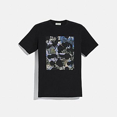 와일드 비스트 티셔츠 위드 케이프 파셋 프린트
