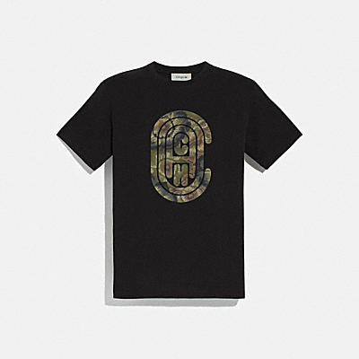 와일드 비스트 코치 티셔츠 위드 케이프 파셋 프린트