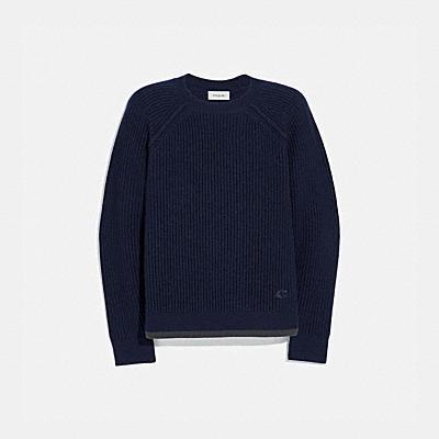 라글란 크루넥 스웨터
