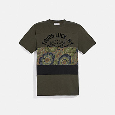 TOUGH LUCK PATCHWORK T-SHIRT WITH KAFFE FASSETT PRINT