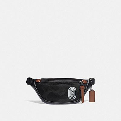 RIVINGTON BELT BAG WITH WILD BEAST PRINT AND REFLECTIVE COACH PATCH