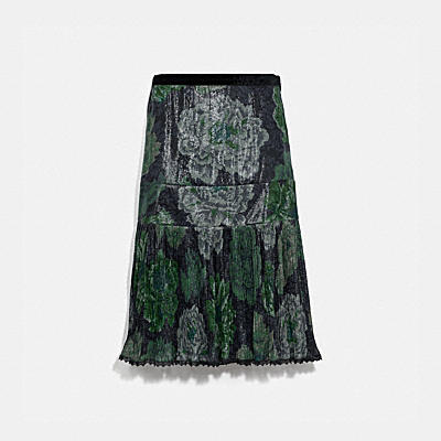 PLEATED SKIRT WITH KAFFE FASSETT PRINT
