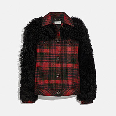 WOOL SHEARLING TRUCKER JACKET