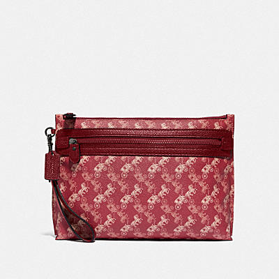 ACADEMY POUCH WITH HORSE AND CARRIAGE PRINT