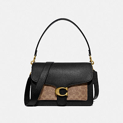 TABBY SHOULDER BAG WITH SIGNATURE CANVAS